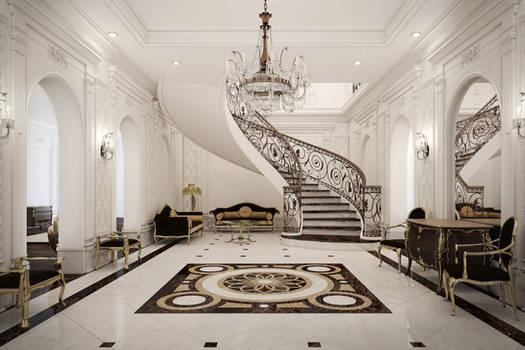 Villa B - Ground floor Lobby