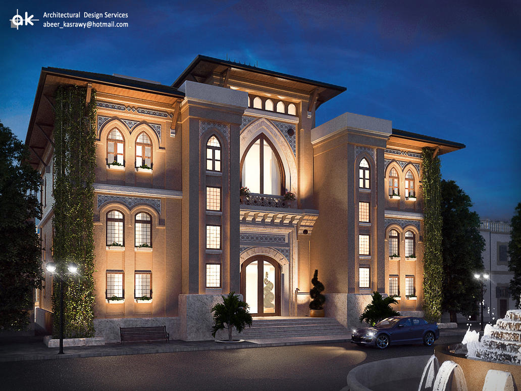 Ksa boutique hotel first draft exterior by kasrawy on for Hotel exterior design