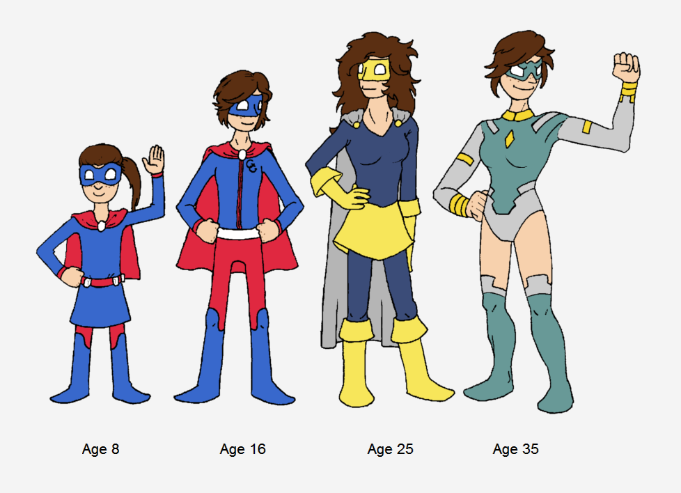 Guardian Girl age progression by Willdabeast-0305
