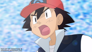 Pokemon Diamond and Pearl - Ash Ketchum Fan Art !