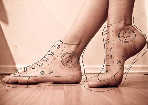 doodle foot