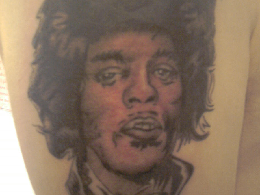 jimi hendrix tattoo by kleetat2 on deviantart. Black Bedroom Furniture Sets. Home Design Ideas