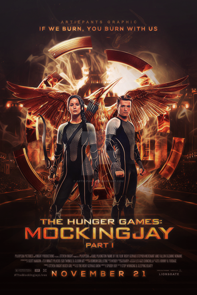 The Hunger Games: Mockingjay Part 1 Film Poster by Artie ...