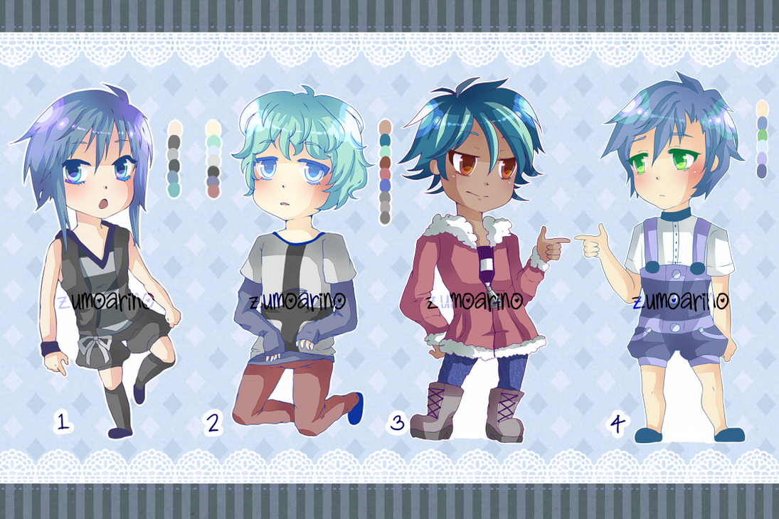 Blue Adoptables:: 280 Points *OPEN* by zumoarino