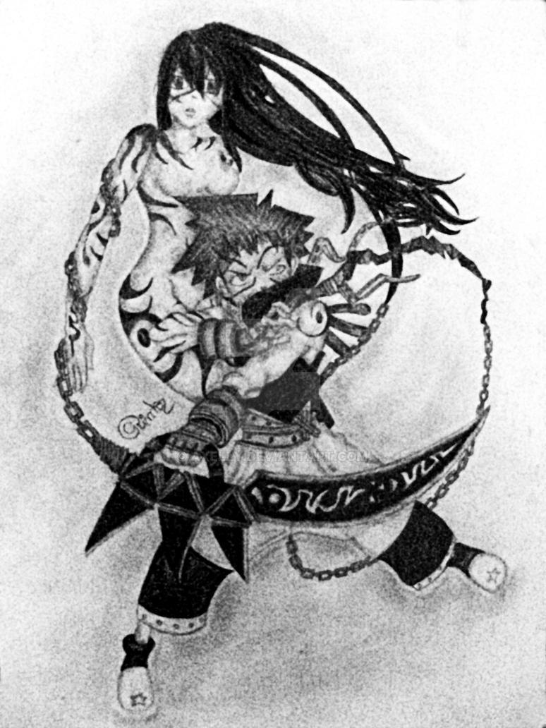 Black Star and Tsubaki by Axelly