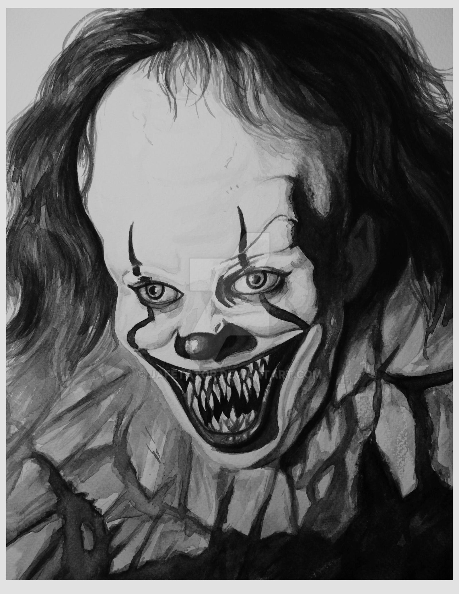 Pennywise From It (2017) - Portrait by Jafetator on DeviantArt