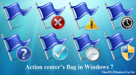 Action center in Windows 7 by NhatPG