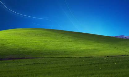 XP Bliss with Windows 7 sky