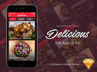 Delicious - iOS UI Kit by SpEEdyRoBy