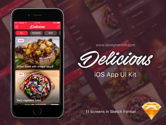 Delicious - iOS UI Kit