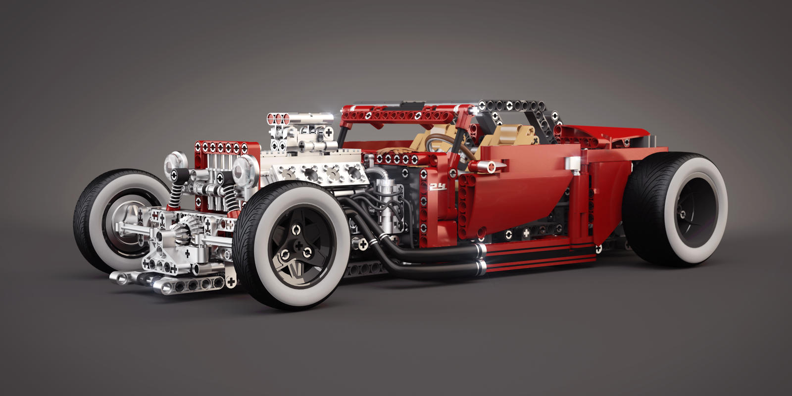 lego 8070 b model hot rod tuning by meszimate on. Black Bedroom Furniture Sets. Home Design Ideas