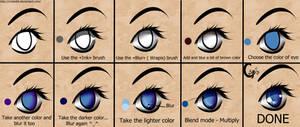 How to draw anime eyes (SAI).