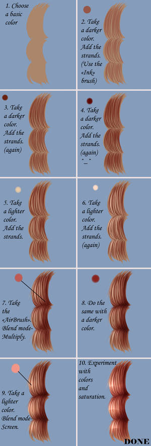 How to draw hair in Paint Tool SAI