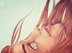 My OC Elin. Semi-realism. Winter is coming!