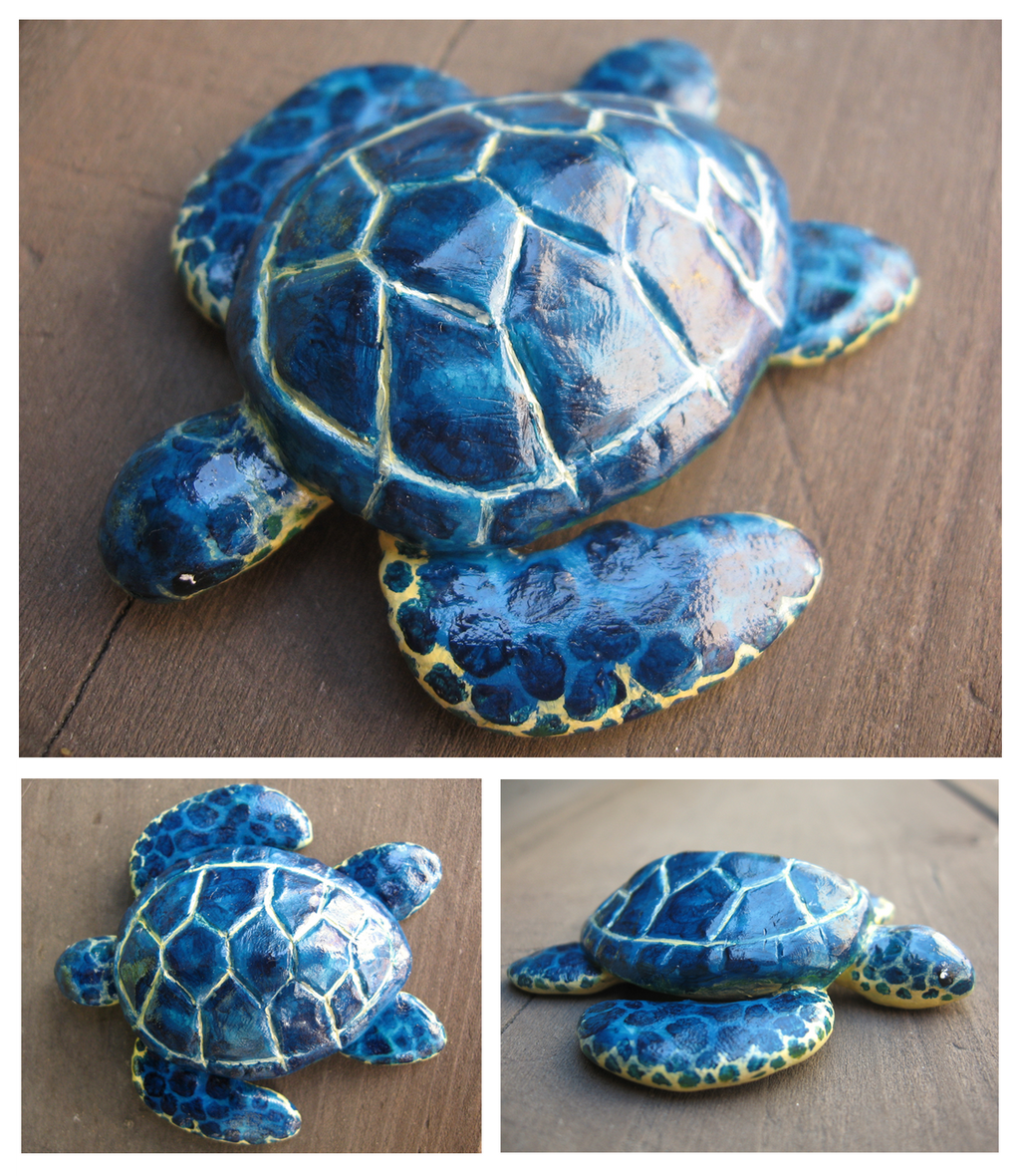 Clay Sea Turtle by unistar2000