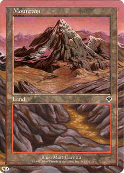 MtG Framed Mountain Alter