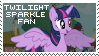 Twilight Sparkle Fan Stamp by OkamiiAoi