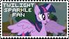 Twilight Sparkle Fan Stamp by Shiiazu
