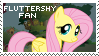 Fluttershy Fan Stamp by Twiinyan