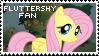 Fluttershy Fan Stamp by Shiiazu