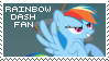Rainbow Dash Fan Stamp by Shiiazu