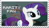 Rarity Fan Stamp by OkamiiAoi