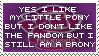 You Can Still Be A Brony - Stamp by Shiiazu