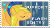 Flash Sentry Fan - Stamp by OkamiiAoi