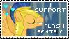 Flash Sentry Fan - Stamp by Shiiazu