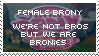 Female Brony Stamp by OkamiiAoi