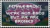 Female Brony Stamp by Shiiazu