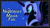 Stamp: Nightmare Moon Fan by Shiiazu
