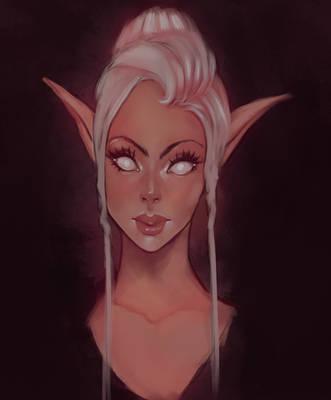 Elegant Elf - Daily paint by faeiry