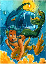 Mermaid on the run! by Temelchen
