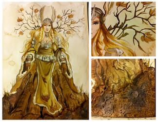 Earth goddess by Temelchen