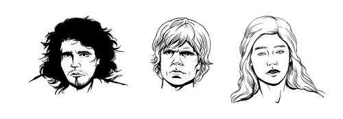 Game of Thrones - 3 Portraits by Temelchen