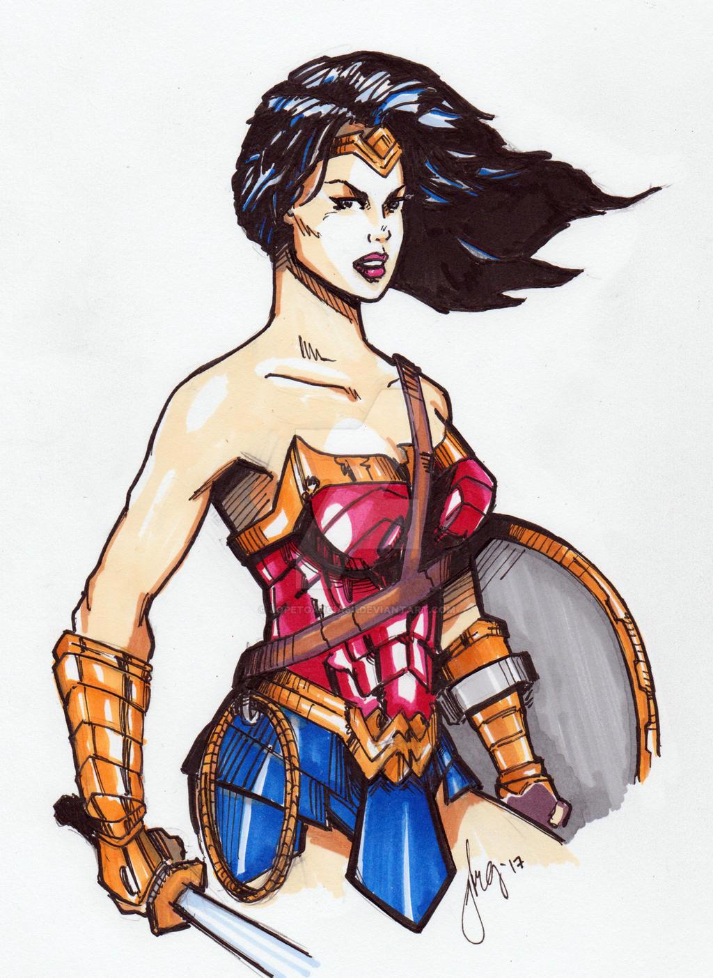 how i draw wonder woman by jopetgarcia63