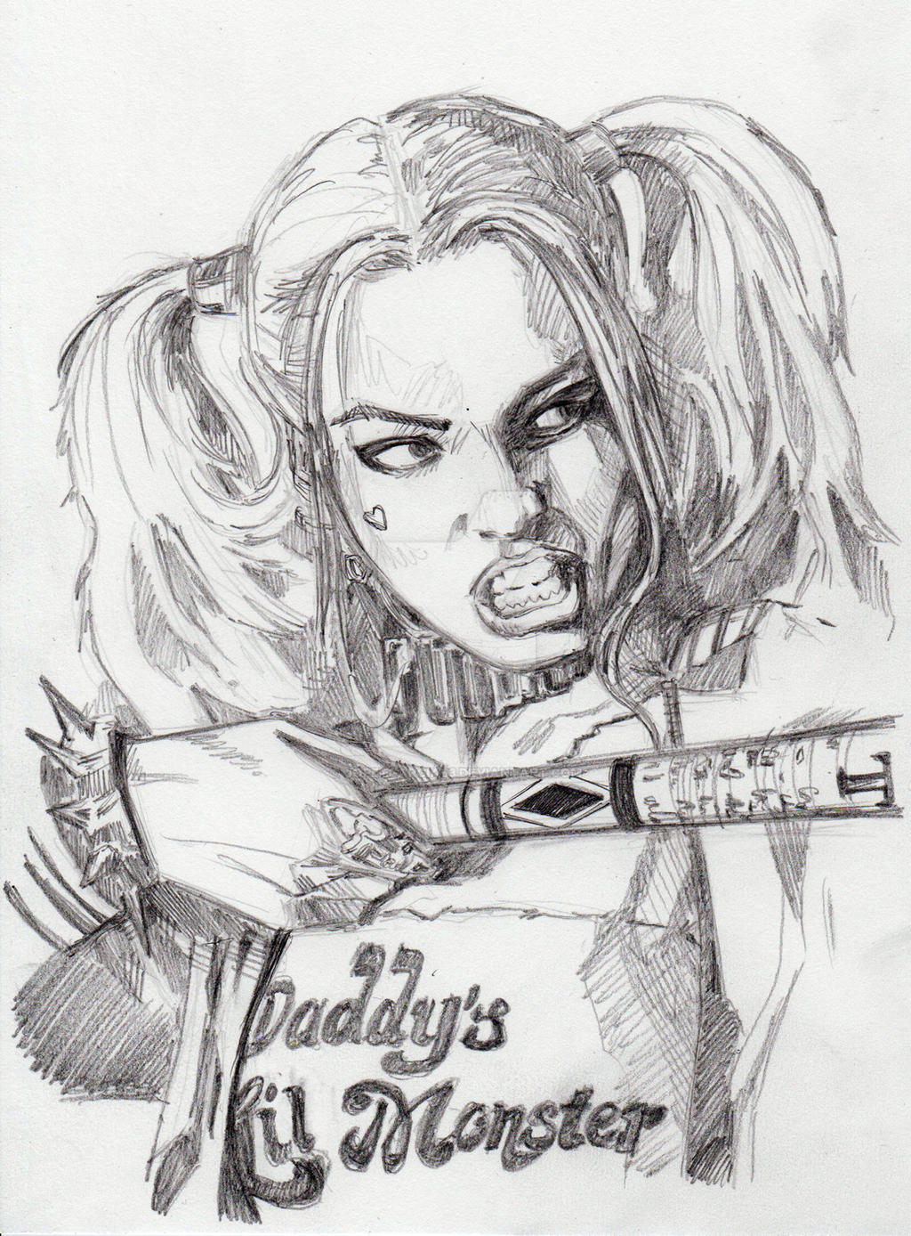 Harley quinn pencils suicide squad by jopetgarcia63 on