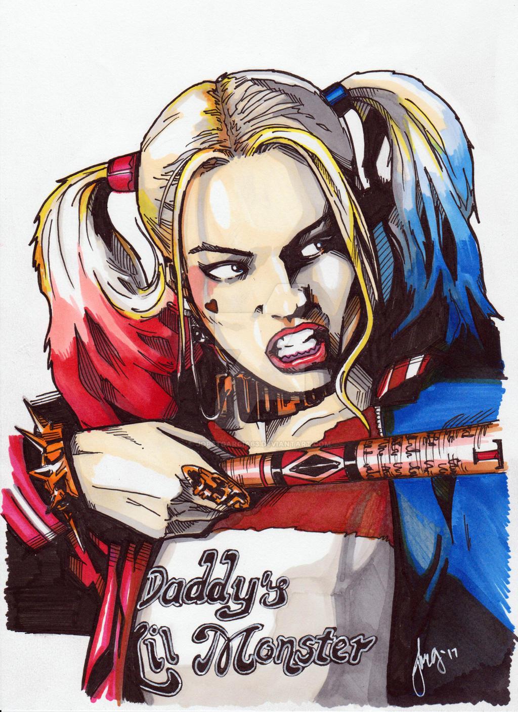 Harley Quinn Drawing: (Margot Robbie) By JopetGarcia63 On DeviantArt