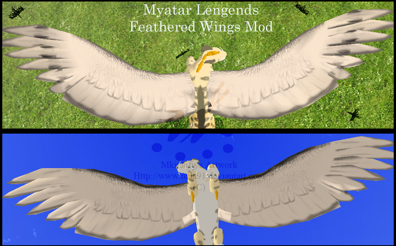 Feathered & Bug Wings Mod *download* Myatar_legends_feathered_wings_mod_by_nala91-d7mm7je