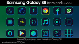 Samsung Galaxy S8 Neon Icons Pack BY VDQuint