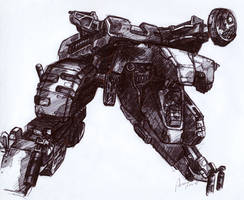 Metal Gear Rex Final Sketch by SolidAlexei