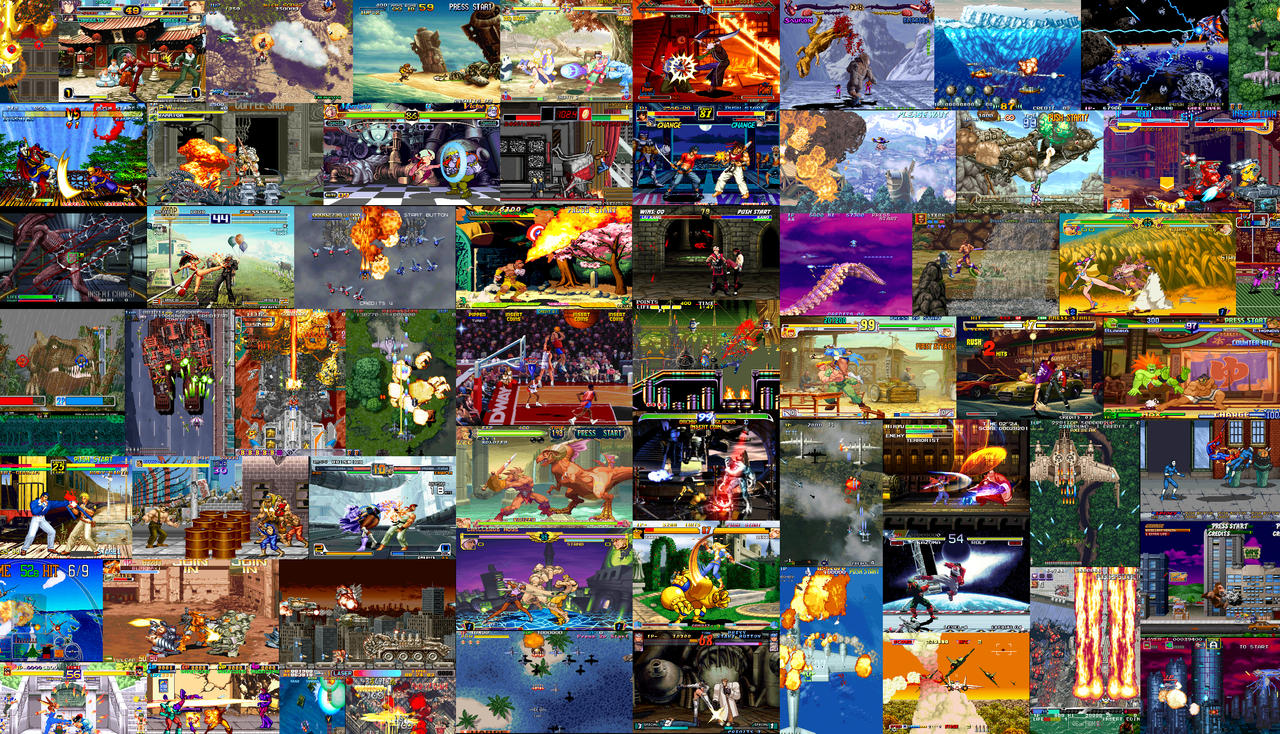 Classic Arcade Video Game Wallpaper
