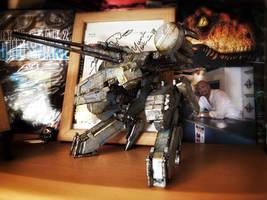 Custom Kotobukiya Metal Gear Rex on display