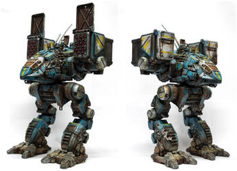 MechWarrior Online 3D printed Catapult mech 1/64 by SolidAlexei