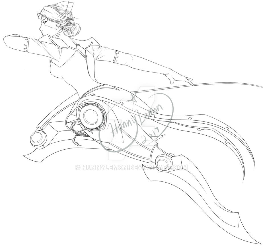 Camille The Steel Shadow Lineart by HunnyLemon