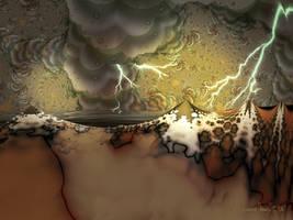 Jupiterian storm by adrianamusettidavila