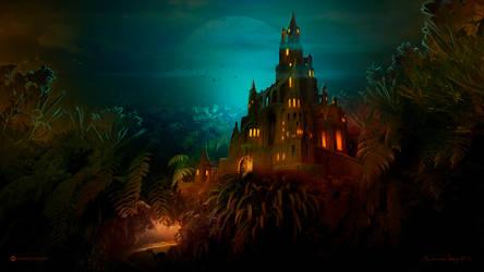 Lilliput Castle at Night