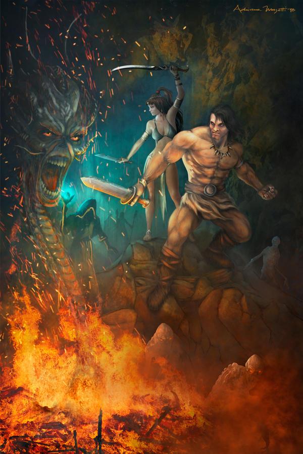 CONAN - The Barbarian by adrianamusettidavila