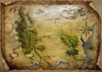 Fantasy map by adrianamusettidavila